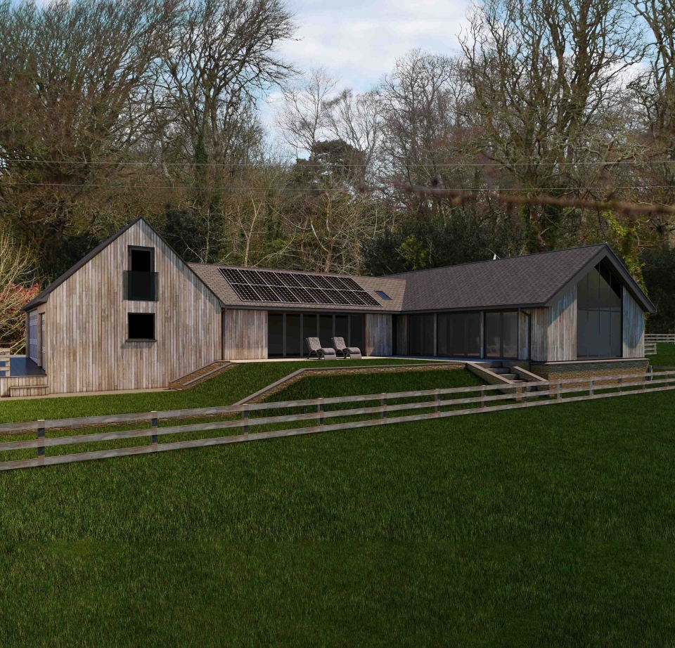 Planning Approved - Pool house and Activity Room at Enys Hill, Penryn
